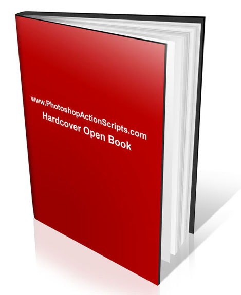 Hard Cover Book Open Standing